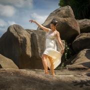 Filipino bride dancing